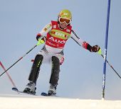 ST ANTON AUSTRIA DECEMBER 22 Marlies Schild Austria Competing in the Audi FIS Alpine Ski World Cup E
