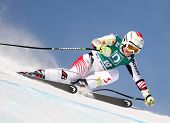 ST MORITZ SWITZERLAND FEBRUARY 03 Elizabeth Goergl Austria Competing in the Audi FIS Alpine Ski Worl