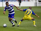 LONDON, UK AUGUST 2,Vincenzo Italiano attempts to foul Mikele Leighterwood at the pre-season friendl