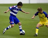 LONDON, UK AUGUST 2, Kaspars Gorkss at the pre-season friendly football match between QPR and Chievo