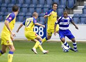 LONDON, UK AUGUST 2,Dexter Blackstock at the pre-season friendly football match between QPR and Chie