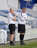 LONDON, UK AUGUST 2, Ian Dowie QPR manager at the pre-season friendly football match between QPR and