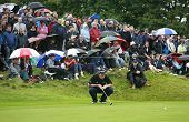 GLENEAGLES SCOTLAND AUGUST 31, David Howell Lines up a birdie putt on the final to give him equal 3r