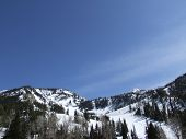 stock photo of snowbird  - Photo of the top of Snowbird ski resort in Utah - JPG