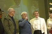 YEREVAN - NOVEMBER 11:  Peter Gabriel, Jivan Gasparyan & Dmitry Dibrov (from left to right) during J