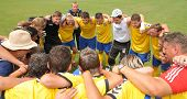 KAPOSVAR, HUNGARY - JULY 25: Dunajska Streda players celebrate at the V. Youth Football Festival Und