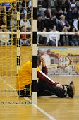 NAGYATAD, HUNGARY - FEBRUARY 5: Goalkeeper Norbert Nagyvizeli at Hungarian Cup Handball match (Nagya