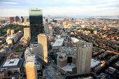 Panorama de Boston da Prudential Tower