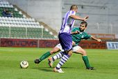 KAPOSVAR, HUNGARY - AUGUST 6: Pedro Sass (in green) in action at a Hungarian National Championship s