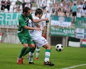 KAPOSVAR, HUNGARY - AUGUST 14: Pedro Sass (in white) in action at a Hungarian National Championship
