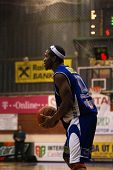 SZEKESFEHERVAR, HUNGARY - FEBRUARY 10: Larry Welton in action at a Hugarian Champonship basketball g