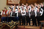 KAPOSVAR, HUNGARY - AUGUST 26: Members of the Suae Music School Choir (EST) sing at the IV. Pannonia