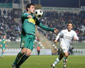 KAPOSVAR, HUNGARY - NOVEMBER 19: Unidentified player in action at a Hungarian National Championship