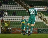 KAPOSVAR, HUNGARY - NOVEMBER 19: Djordjevic (28) in action at a Hungarian National Championship socc