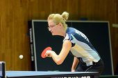 KAPOSVAR, HUNGARY - NOVEMBER 20: Diana Radocsai in action at a Hungarian National Championship I/B.