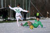 KAPOSVAR, HUNGARY - NOVEMBER 27: Krisztian Garai (L) in action at the Hungarian National Championshi