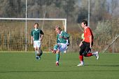 KAPOSVAR, HUNGARY - OCTOBER 30: Unidentified players in action at the Hungarian National Championshi