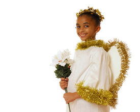 stock photo of christmas angel  - Portrait of a beautiful bi - JPG