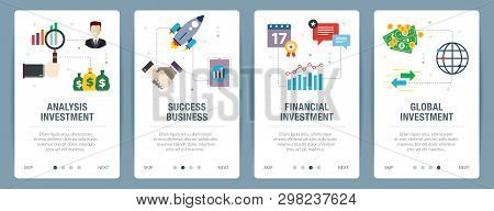 poster of Analysis Investment, Success Business, Financial Investment, Global Investment.  Internet Website Ba