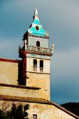 pic of chopin  - Tower of the Monastery at Valledemossa Majorca Spain where Chopin and George Sand lived in the 19th Century - JPG