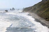 Coastal line from Pancake Rock Canyon Punakaiki New Zealand