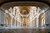 Great Hall Ballroom in Versaille Palace Paris France