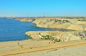picture of aswan dam  - Aswan Dam - JPG