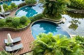 Swimming pool, fresh and cool world