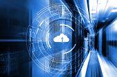 Data Cloud Storage Global Network 3d Rendering Motion Background poster