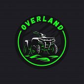 Atv Vehicle Circle Emblem. All-terrain 4x4 Quad Illustration. poster