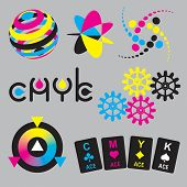 CMYK concepts and design elements