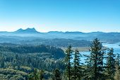 Beautiful View Near The Oregon Coast As Seen From The Astoria Column In Astoria, Oregon poster