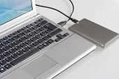 Laptop with hard disk