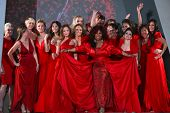 NEW YORK-FEBRUARY 8: Celebrities participate at The Heart Truth's Red Dress Collection 2012 Fashion Show at the Hammerstein Ballroom on February 8, 2012 in New York City.