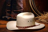 American West Rodeo Cowboy Hat With Western Boots