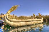 Reed Boat in Titicaca Lake, Peru