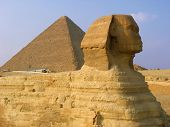 Sphynx And Pyramids In Giza