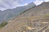 Terraces in Machu Picchu site, Peru