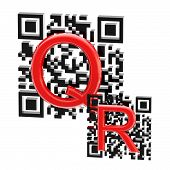 QR code illustration made of two codes