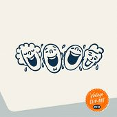 foto of laugh out loud  - Vintage Clip Art  - JPG