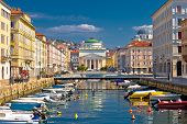 Trieste Channel And Ponte Rosso Square View, City In Friuli Venezia Giulia Region Of Italy poster
