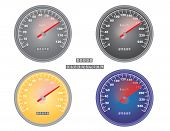 Mph And Kph Speedometers