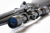 Black sniper gun on the white background