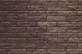Abstract Brown Brick Wall Texture For Design. Brick Wall Grunge Background. Wall Cement Texture. Dar poster