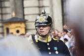 stockholm: swedish royal guard