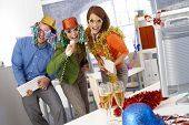 picture of office party  - Funny new year eve party in office - JPG