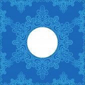 lacy snowflake on a blue background