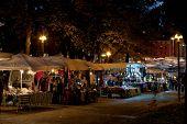 Street Market On Piazza Dell Viii Agosto In Bologna, Italy