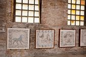 Fragments Of Byzantine Mosaics In Ravenna Church