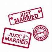 Vetor apenas casou-se com selos